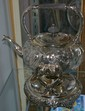 Reposse' Danish Silver Tea Pot on Stand