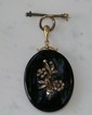 Victorian 14 Kt YG Mourning Locket w/Diamonds
