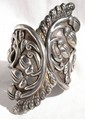 Signed Taxco Sterling Cuff w/Spring Hinge