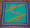 CARTIER - carré de la ligne Must, 100 % soie, 90 x 90 cm, thème  panthères et di