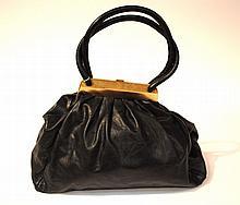 SONIA RYKIEL - grand sac bourse, joli fermoir métallique en or vieilli, grandes