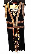 CHRISTIAN LACROIX - robe noire et argent en jersey de soie imprimée à fleurs bei