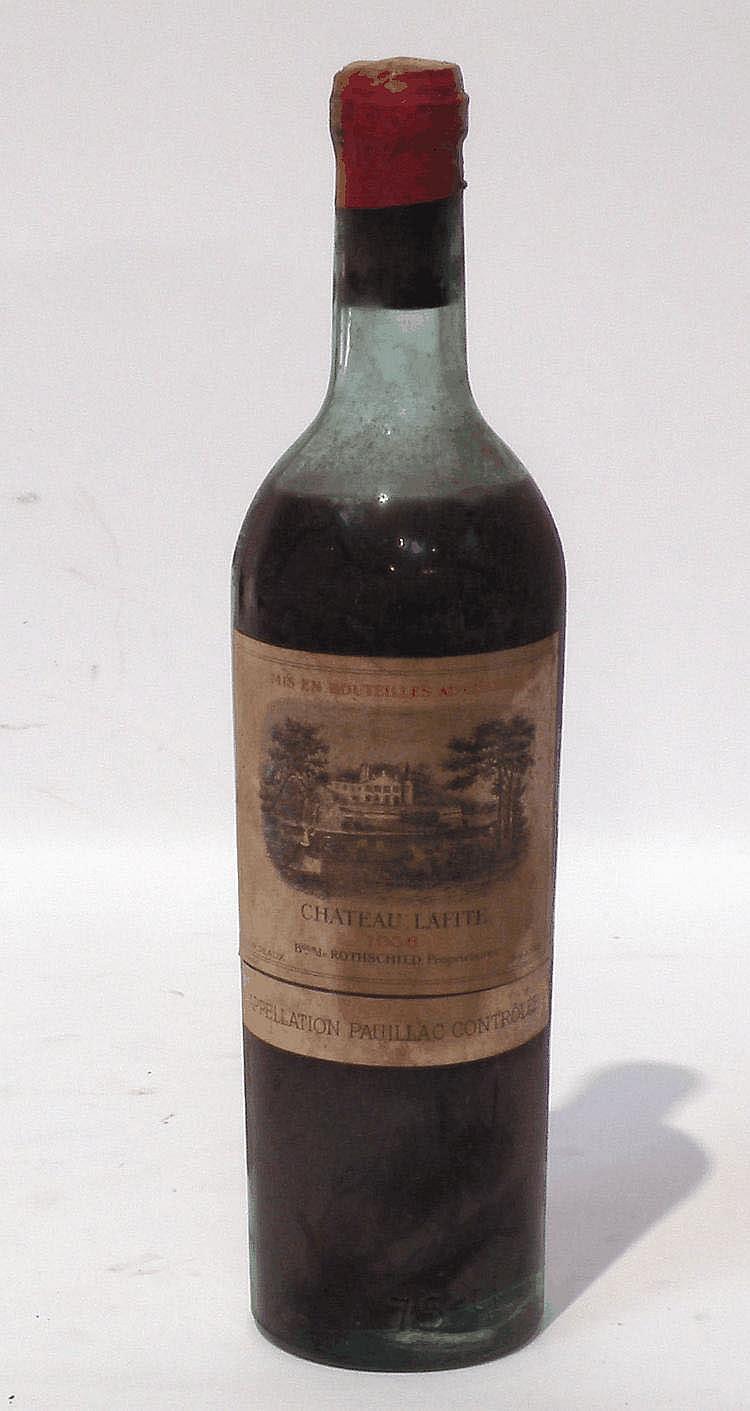1 BLLE de CHÂTEAU LAFITE Rothschild 1938 (niveau bas)