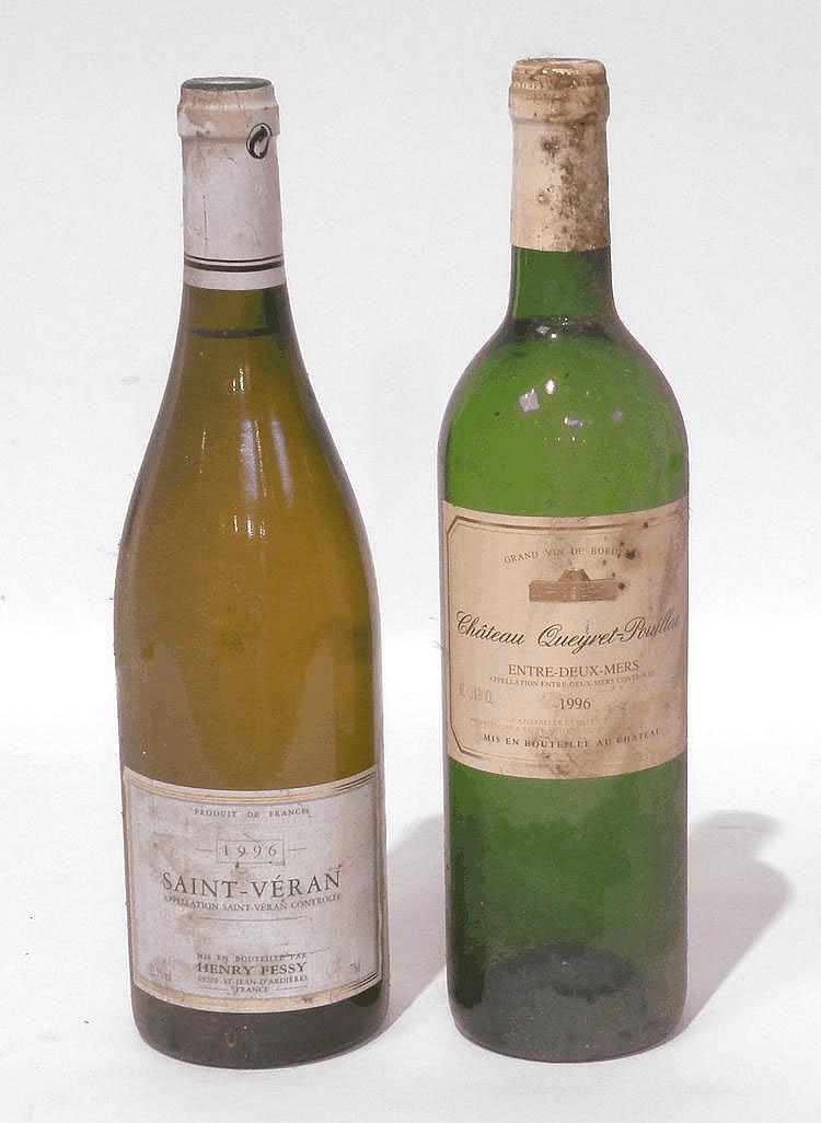 Lot de 11 Bouteilles comprenant : 5 Bouteilles de SAINT-VÉRAN, Henry Fessy 1996 et 6 Bouteilles