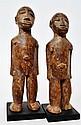 Couple Bateba Phuwe - Lobi -  Burkina Faso   Bois à patine d'usage, brun clair e