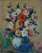 Emile Henry TILMANS (1888-1960) Vase de fleurs, 1957.