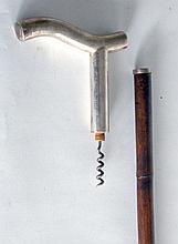 CANNE d'aenologue à poignée équerre en métal se dévisse