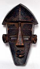 masque Lwa Lwa, Zaïre, masque Mfondo de chasse, style typique des masques Lwa Lw