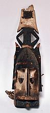 partie de masque Kanaga Dogon Mali, ancien à patine d'usage, 63 cm
