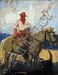 Louis FORTUNEY (1878-1950) Picador. Pastel signé en bas à gauche. 31,5 x 24 cm