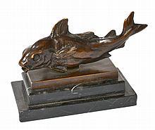 Ludwig VORDERMAYER (1868-1933). Trophée de pêche Nordsee