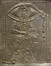 Salvador DALI (1904-1989) Moïse et le Monothéisme. Bas-relief en bronze repoussé