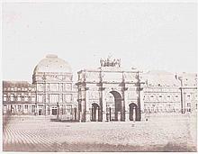 François-Auguste RENARD (1806-1890). Les Tuileries, place du carrousel et Arc de