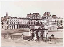Édouard-Denis BALDUS (1813-1889). Carrousel du Louvre. Paris. 1852-1857. Épreuve