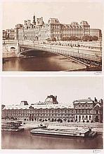 Édouard-Denis BALDUS (1813-1889). Hôtel-de-Ville et pont d'Arcole , Quai du vieu