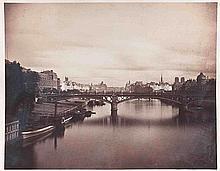 Gustave LE GRAY (1820-1884). Pont du Carrousel vu du pont Royal. Paris. 1859. Ép