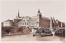Édouard-Denis BALDUS (1813-1889). Vues et monuments de Paris. 1860-1861. 7 épreu
