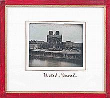 [DAGUERRÉOTYPE]. Notre-Dame de Paris (vue inversée). Paris. Années 1840. Daguerr