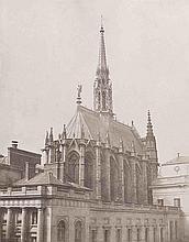Édouard-Denis BALDUS (1813-1889). La Sainte-Chapelle (vue du chevet). Paris. 185