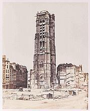 Édouard-Denis BALDUS (1813-1889). La tour Saint-Jacques. Paris. 1852-1853. Épreu