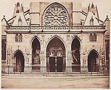 Gustave LE GRAY (1820-1884). Saint-Germain-l'Auxerrois, portail. Paris. 1859. Ép