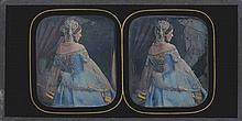 Alexis GOÜIN (New-York 1799/1800-Paris 1855). La robe bleue et or : modèle en te