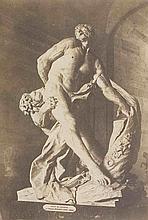 Édouard-Denis BALDUS (1813-1889). Le Milon de Crotone, statue de Pierre Puget. M