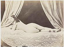 Félix-Jacques Antoine MOULIN (1802-1875). Nu allongé, Amélie. 1852. Épreuve d'ép