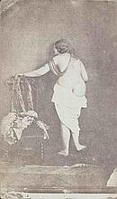 Julien VALLOU de VILLENEUVE (1795-1866). Nu se déshabillant. 1854. Épreuve d'épo