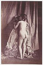 Eugène DURIEU (1800-1874). Études de nu (fillette). 1855. 2 épreuves d'époque su