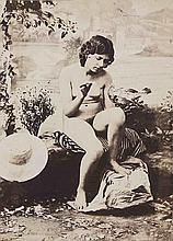 Félix-Jacques Antoine MOULIN (1802-1875). Nus aux roseaux (2) , Nu nourrisant un