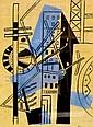 Fernand LEGER. Ville I. Planche pour Les Illuminations. l'une des 15 lithographi