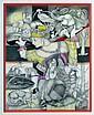 Jocelyne PACHE (1942) En voie de disparition. Dessin à la mine de plomb et crayo