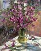 SALNIKOVA Elena. Bouquet de clochettes. Huile sur toile. 50x40 cm