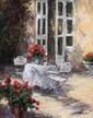 KRAIEV Mikhaïl. L'heure du thé. Huile sur toile. 50x40 cm