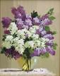 PAVLOV Eugène. Bouquet de lilas. Huile sur toile. 24x18 cm