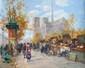 FILITOV Sergei. Les bouquinistes. Huile sur toile. 40x50 cm