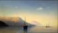 TSION Sergueï. Calme sur l'adriatique. Huile sur carton. 16x27 cm