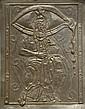 Salvador DALI (1904-1989) Moïse et le Monothéisme. Bas-relief en bronze repoussé et argent. 56 x 71 cm