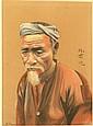 Ecole XXe. Portrait de paysan chinois. Pastel signé en bas à gauche. 22 x 30 cm