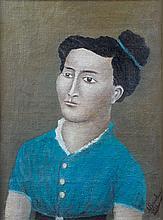 André BAUCHANT (1873-1958). Portrait de femme, 1923. Huile sur toile signée et d