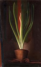 René RIMBERT (1896-1991). La plante magique, 1929. Huile sur toile signée en bas