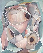 Henri GOETZ (1909-1989) Vertige, 1946. Huile sur carton signé en bas à droite et