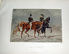 John Frederick I HERRING (1795-1865) Herring's sporting sketches. Album de 15 li