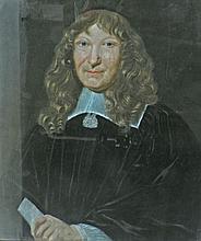 Ecole du XVIIIe. Portrait d'homme. Pastel. 66 x 56 cm.