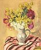 Charles KVAPIL (1884-1957)  Bouquet de fleurs Huile sur panneau signée en bas à
