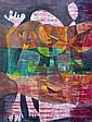 Léopold SURVAGE (1879-1968). Personnages oniriques. Aquarelle et encre signée au