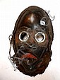 COTE d'IVOIRE.   DAN.   Très beau masque de course, avec coiffe, dents apparentes et