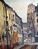 Germain DELATOUSCHE (1898-1966). Rue Saint-Etienne du Mont. Huile sur toile sign
