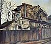 Germain DELATOUSCHE (1898-1966). Rue des reculettes. Huile sur toile signée en b